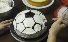 torte a tema calcio, torte decorate calcio, torta calcio