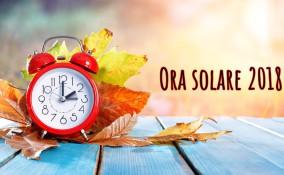 ora solare 2018, cambio, ora legale 2019