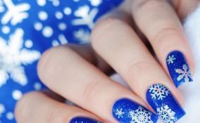 nail art, inverno, decorazione unghie