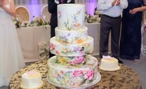 torte nuziali dipinte, torte nuziali, torte dipinte, torte matrimonio dipinte