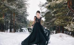 sposarsi, abito da sposa, blu o nero