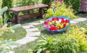 bordure aiuole fai da te, bordure giardino fai da te
