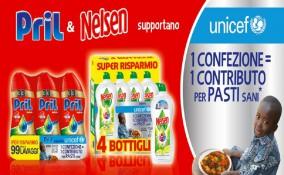 Acquista i prodotti Pril e Nelsen e aiuta l'UNICEF a combattere la malnutrizione