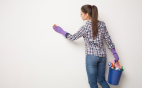 parete in cartongesso, come pulire, lavaggio