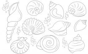 disegni da ricamare punto catenella a tema mare, disegni da ricamare punto catenella, soggetti marini da ricamare