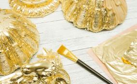foglia oro decoupage, foglio oro come si usa