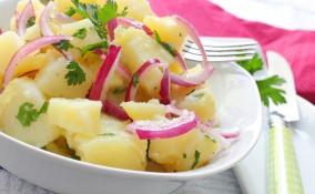 insalata di patate, ricetta tedesca, bavarese