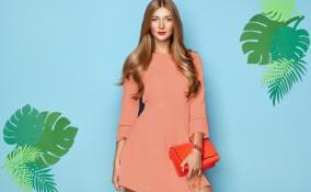 trucco, abito corallo, abbinare colore