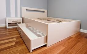 come trasformare letto normale in letto contenitore, letto contenitore fai da te