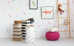 decorare pareti washi tape, decorare pareti idee, washi tape idee