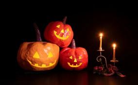 zucca halloween fai da te, zucca carta, zucca decoupage