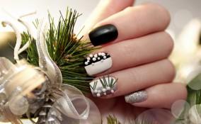 nail art natalizie, manicure, disegni