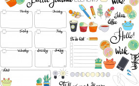 bullet journal idee da stampare, bullet journal