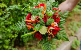 bouquet sposa verdure, bouquet verdure, bouquet ortaggi