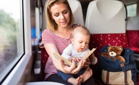 viaggiare treno bambini