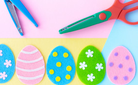 uova decorazioni feltro