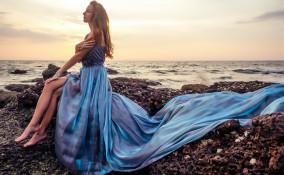 matrimonio, sera, spiaggia