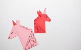 segnalibri fai da te unicorno