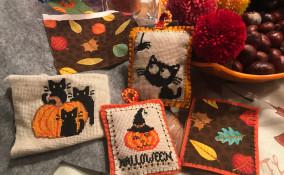 punto croce halloween, schemi punto croce halloween