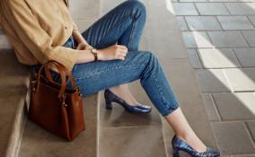 jeans vita alta, come indossare, look giorno