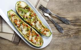 zucchine, verdure, ripieni senza carne