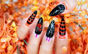 nail art, Halloween 2020, manicure