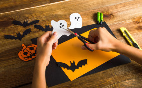 lavoretti halloween facili, lavoretti halloween decoupage, halloween decoupage