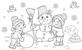 disegni inverno da colorare bambini, disegni inverno da colorare, disegni invernali da colorare