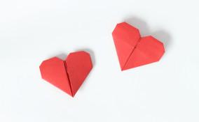 Origami a forma di cuore: il procedimento semplice