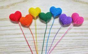 cuore amigurumi uncinetto, cuore uncinetto