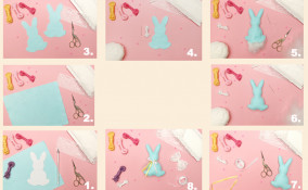 coniglietti pasquali pannolenci, coniglietti pasqua pannolenci