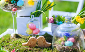 centrotavola, Pasqua, fiori