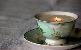 candele tazza fai da  te