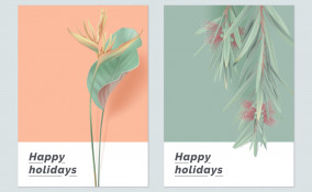 biglietti di auguri, fiori, design floreale
