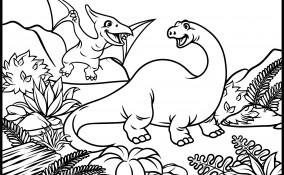 dinosauri da colorare, dinosauri da stampare