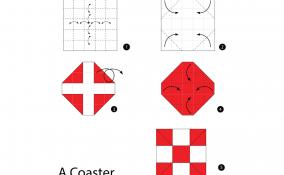 fare sottobicchieri origami