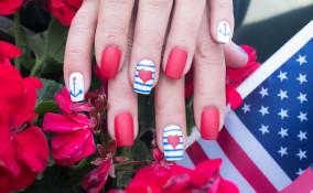 nail art, ancore, decorazioni unghie marine