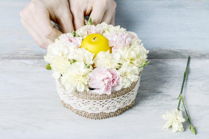 festa mamma, centrotavola, piante fiori