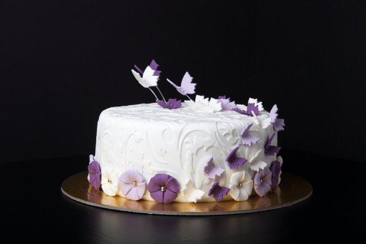 Torte per il compleanno della mamma, 7 decorazioni in pasta di zucchero