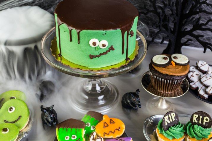 torta halloween pasta di zucchero, cake design halloween