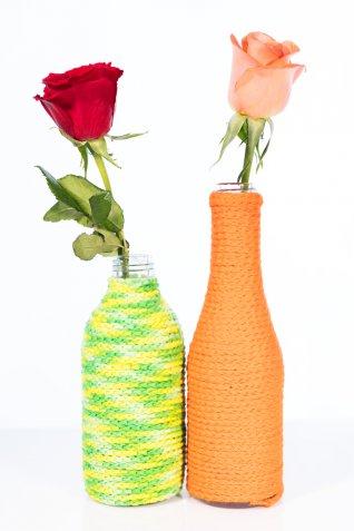 decorare bottiglie vetro