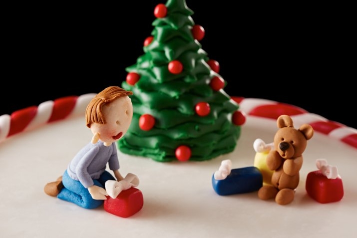Torte di Natale in pasta di zucchero, 7 decorazioni splendide per le feste