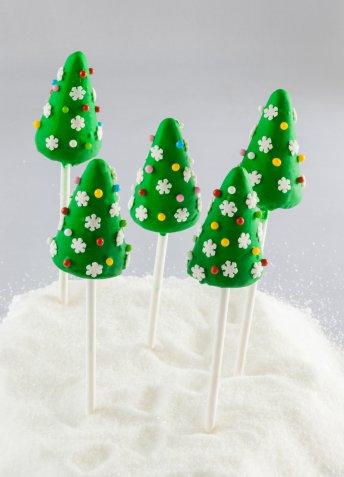 albero di natale pasta di zucchero, albero pasta di zucchero