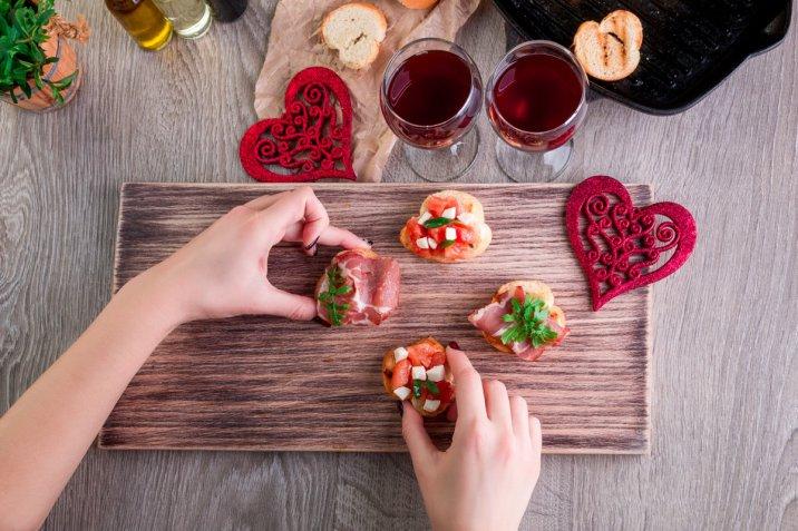 Il menù semplice di San Valentino per una cena romantica in casa