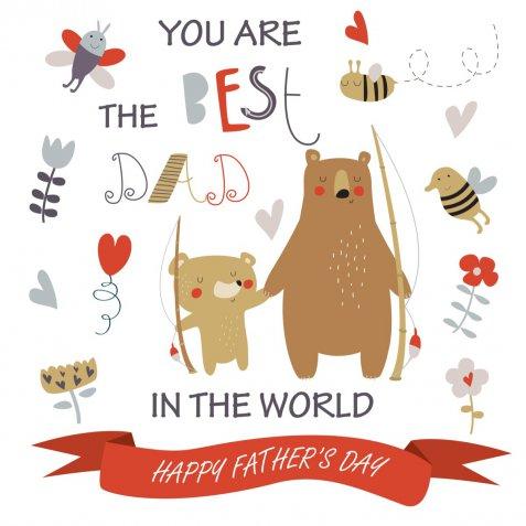 Festa del papà 2018: i biglietti da stampare e colorare per fare gli auguri