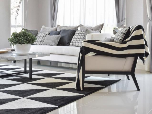 Salotto Moderno Bianco : Soggiorno moderno in bianco e grigio idee di arredo donnad