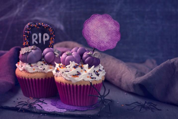 Cupcake Halloween, 7 decorazioni in pasta di zucchero che fanno paura