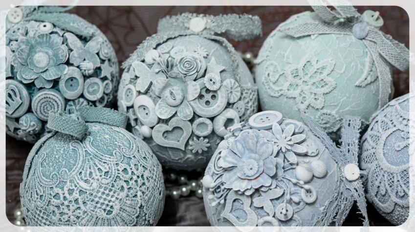Decorare le palline di polistirolo con il decoupage: 5 idee con materiali diversi