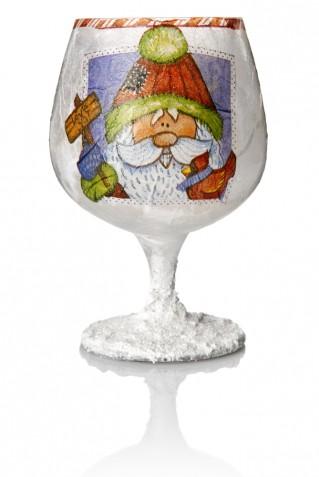Bicchieri decorati per Natale fai da te: 5 idee con il decoupage