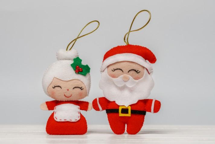 Addobbi natalizi fai da te in feltro: la tecnica base e 5 idee curiose